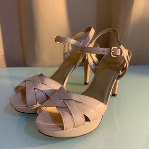 Stuart Weitzman pink patent leather heels